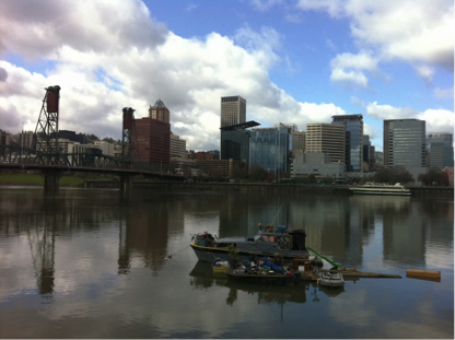 4-A-boat-house-on-Willamette-River-by-Erin-Goodling