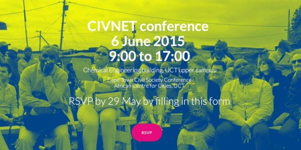 MOVE Project organises: The Cape Town Civil Society Conference, 6 June, 2015