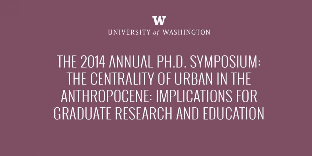 Key note at University of Washington: Re-thinking urban theory and ecological studies from a 'world of cities'